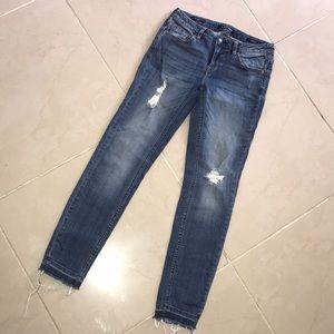 "Vigoss ""The Chelsea Skinny"" Distressed Jeans"